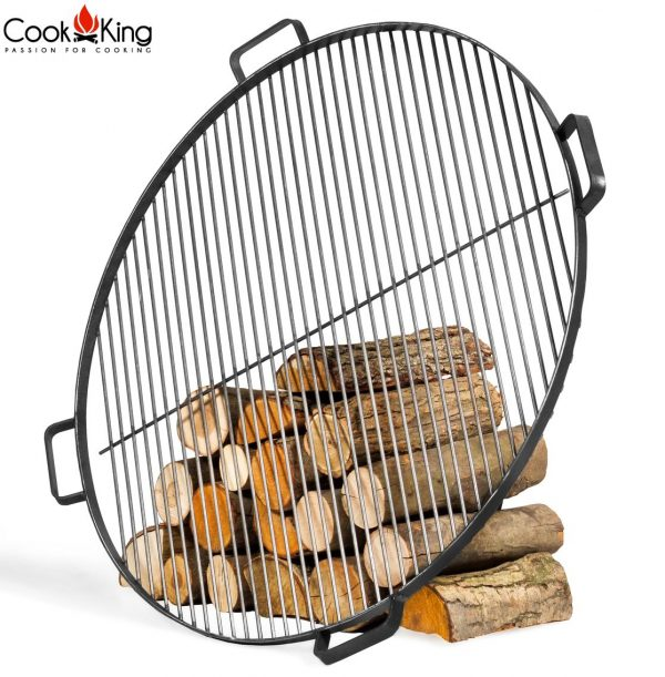 CookKing Schwarzstahl-Grillrost mit 4 Griffen