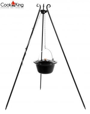 CookKing Dreibeingrill 180cm mit emailliertem GulaschtopfDreibeingrill 180cm mit emailliertem Gulaschtopf