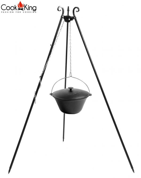 CookKing Dreibeingrill 180cm mit Gusseisen-Topf