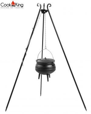 CookKing Dreibeingrill 180cm mit Gusseisen-Afrikatopf
