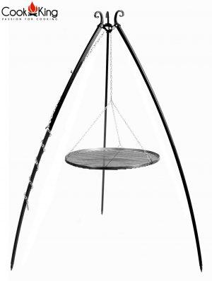 CookKing Dreibeingrill 200cm mit Schwarzstahlrost