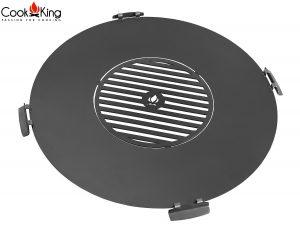 CookKing Grillplatte mit Innenrost & 4 Halter für Feuerschale